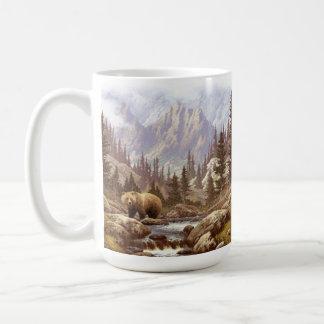 Grizzly Bear Landscape 15 oz Mug