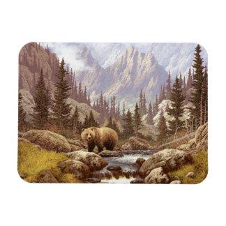 Grizzly Bear Landscape Flexi Magnet