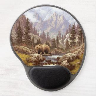 Grizzly Bear Landscape Gel Mouse Pad