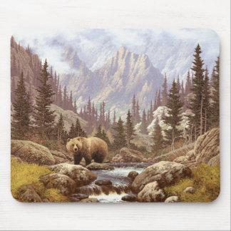 Grizzly Bear Landscape Mousepad