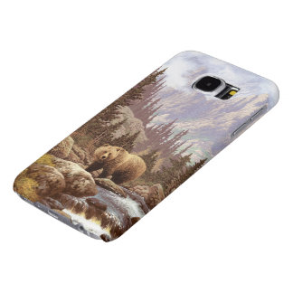 Grizzly Bear Landscape Samsung Galaxy S6 Cases