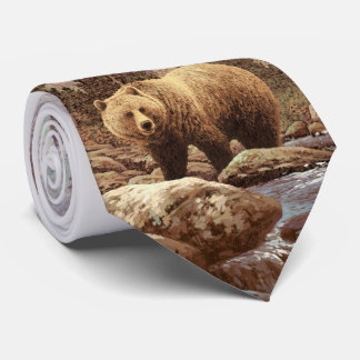 Grizzly Bear Landscape Tie