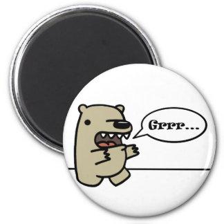 Grizzly Bear Fridge Magnet
