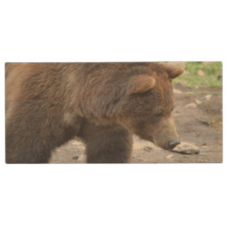 Grizzly Bear Wood USB 2.0 Flash Drive