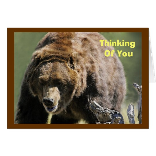 Grizzly Bear, Military Encouragement Card