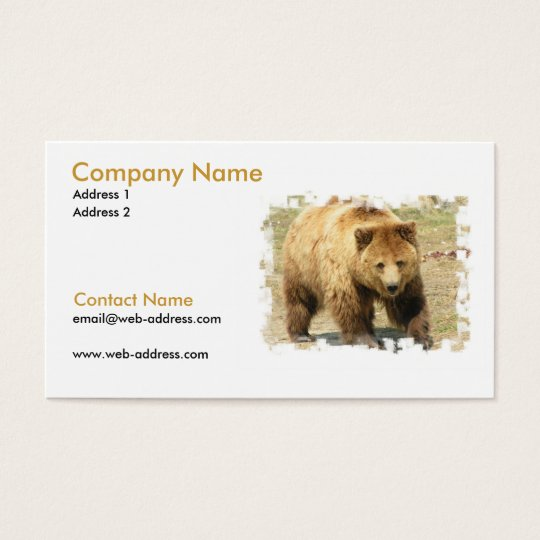 Grizzly Bear on a Business Card