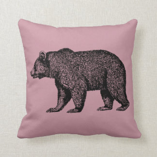 Grizzly Bear Out For A Walk Cushion
