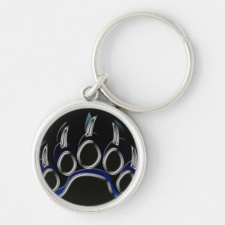 Grizzly Bear Paw Key Ring