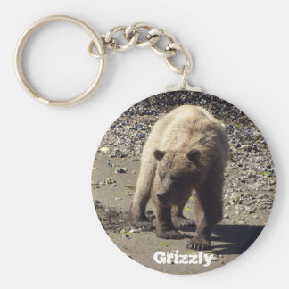 Grizzly Bear products Basic Round Button Key Ring