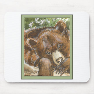 Grizzly Bear Resting Mouse Pad