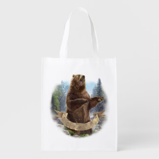 Grizzly Bear Reusable Grocery Bag