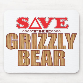 Grizzly Bear Save Mouse Pad