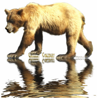 GRIZZLY BEAR sculpted Wildlife Magnet Cut Outs