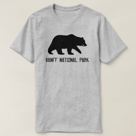 Grizzly Bear Silhouette Banff National Park T-Shirt