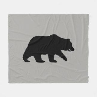 Grizzly Bear Silhouette Fleece Blanket