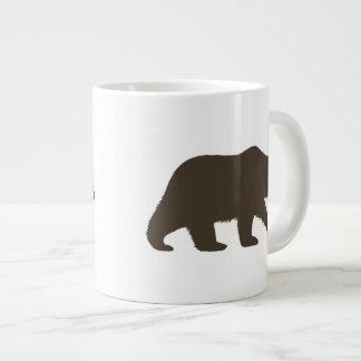 Grizzly Bear Silhouette Jumbo Mug