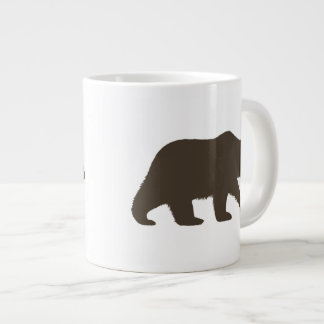 Grizzly Bear Silhouette Large Coffee Mug