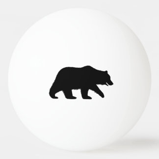 Grizzly Bear Silhouette Ping Pong Ball
