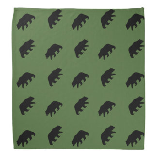 Grizzly Bear Silhouettes Pattern Kerchiefs