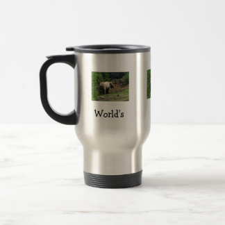 Grizzly Bear Smile; Happy Father's Day Stainless Steel Travel Mug