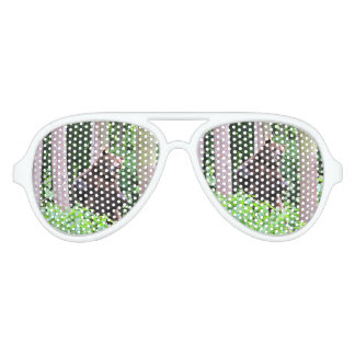 Grizzly Bear Standing Tall In The Woods Aviator Sunglasses