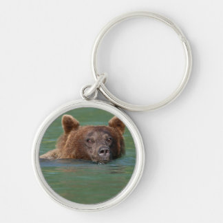 Grizzly Bear Swimming Key Chains