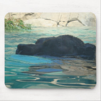 Grizzly Bear Swimming Mouse Pad