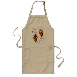 GRIZZLY BEAR TRACKS LONG APRON