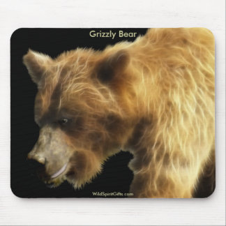 Grizzly Bear Wild Animal Art Mousemat Mousepad