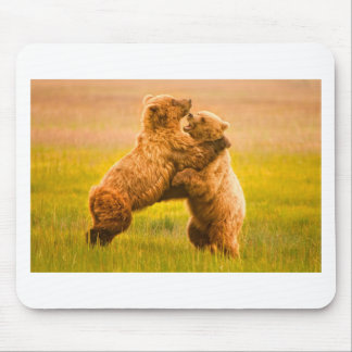 Grizzly Bears Wrestling Mousepad