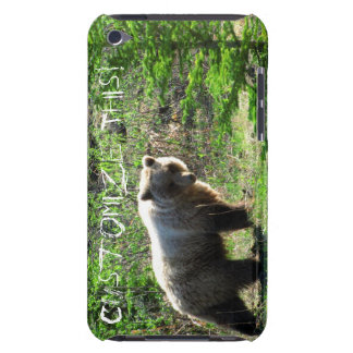 Grizzly in the Forest Customizable Barely There iPod Cases