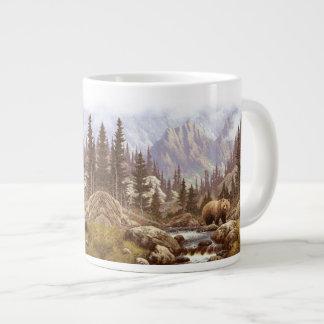 Grizzly Landscape 20 Oz Large Ceramic Coffee Mug Jumbo Mug