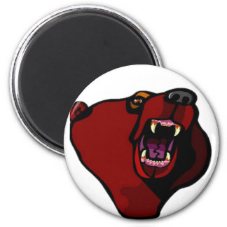 """Grizzly """"like your boyfriend"""" 6 cm round magnet"""