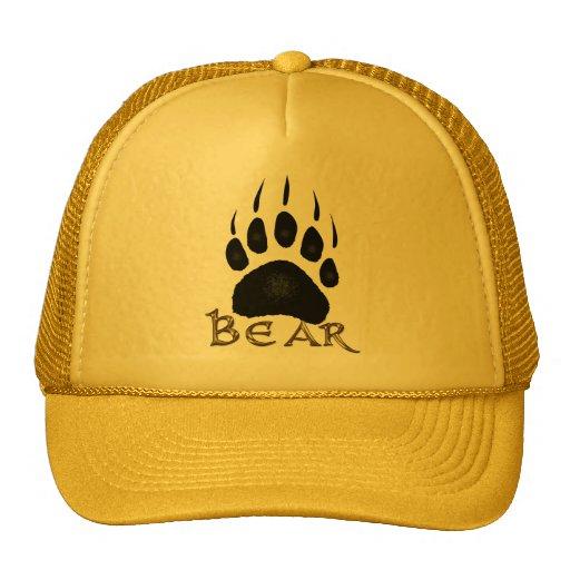 Grizzly Paw Print Wildlife Supporter Trucker Cap Trucker Hats