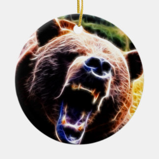 Grizzly Roar Christmas Ornament