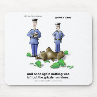 Grizzly Romaines Bear/Lettuce Cartoon Gifts & Tees Mouse Pad