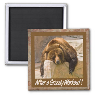 Grizzly Workout Magnet