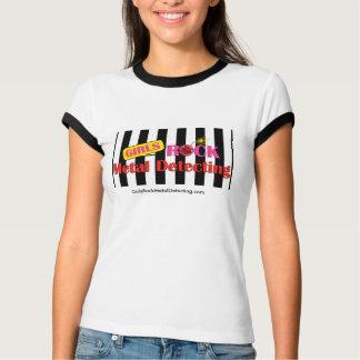 GRMD Ladies Ringer T BLk and White T-Shirt