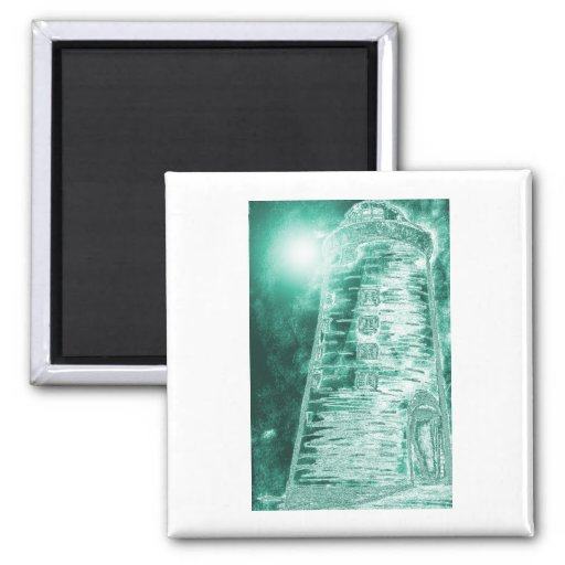 Grn.colorizedlighthouse Refrigerator Magnet