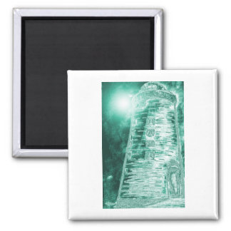 Grn.colorizedlighthouse Square Magnet