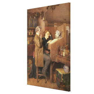 Grocer and wife, 1868 stretched canvas print
