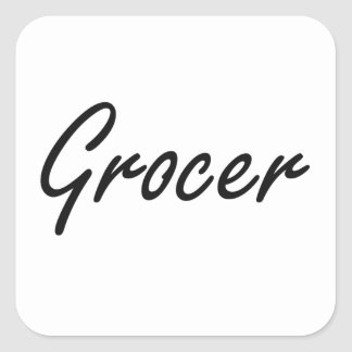 Grocer Artistic Job Design Square Sticker