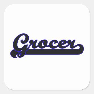Grocer Classic Job Design Square Sticker