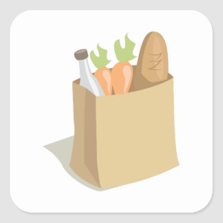 Groceries_Base Square Stickers