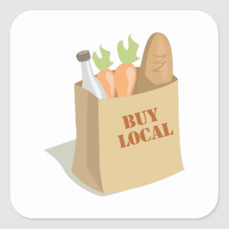 Groceries_Buy_Local Square Sticker