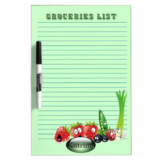 Groceries List 2  personalised Dry Erase Board