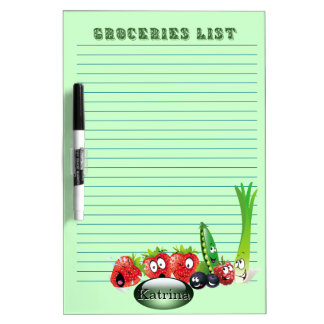 Groceries List 2  personalized Dry Erase Board