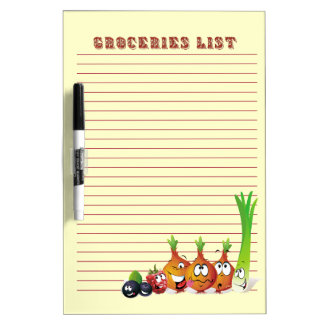 Groceries List 7 Dry Erase Board