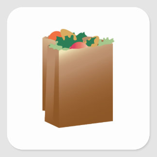 Grocery Bag Base Square Sticker
