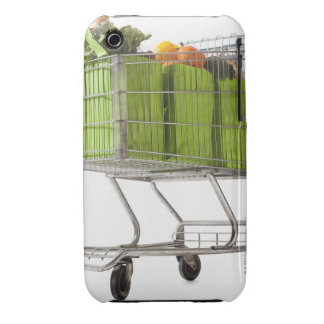 Grocery cart full of bagged produce iPhone 3 Case-Mate cases